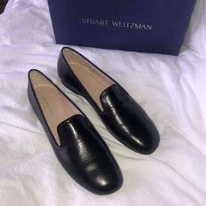 Stuart Weitzman Myguy Black Tripoli Loafers